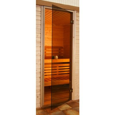 Hauptbild von Ilogreen Saunatür Trend 199x89 cm, Bronze 8 mm