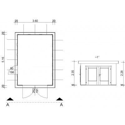 Bild 3 von Azalp Garage Arno 360x516 cm, 45 mm Modern