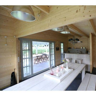 Bild 3 von Azalp Blockhaus Ben 650x750 cm, 45 mm