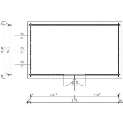Bild 97 von Azalp Blockhaus Ingmar 596x350 cm, 45 mm