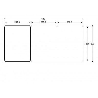 Afbeelding 5 van WoodAcademy Nefriet excellent Nero blokhut 680x300 cm