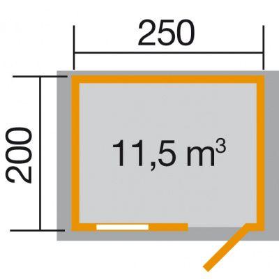 Afbeelding 2 van Weka Tuinhuis Premium28 FT Gr. 1 250cm
