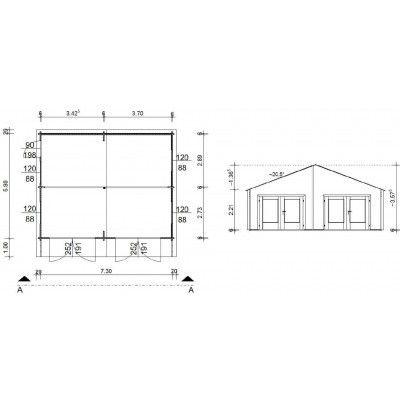 Afbeelding 18 van Azalp Garage Madrid 750x600 cm, 60 mm