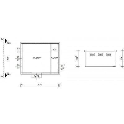 Bild 18 von Azalp Blockhaus Lars 550x450 cm, 45 mm