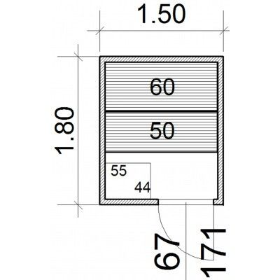 Afbeelding 43 van Azalp Massieve sauna Genio 150x180 cm, 45 mm