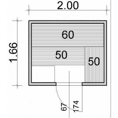 Afbeelding 43 van Azalp Massieve sauna Genio 200x166 cm, 45 mm