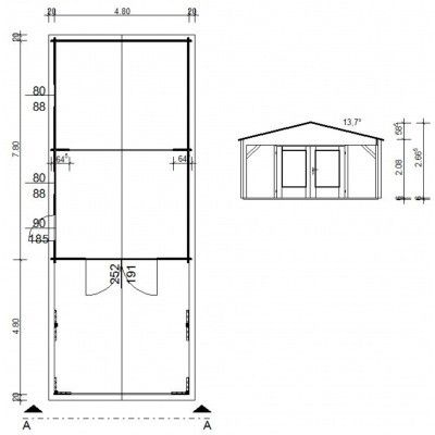 Afbeelding 10 van Azalp Garage Jeffrey 500x800 cm, 60 mm