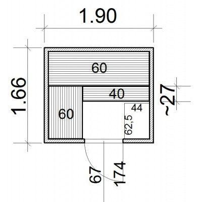 Afbeelding 43 van Azalp Massieve sauna Genio 190x166 cm, 45 mm