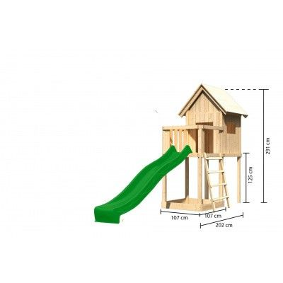 Afbeelding 2 van Akubi Speeltoren Frieda met glijbaan (91178)