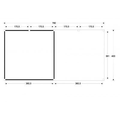 Bild 5 von WoodAcademy Sapphire Excellent Nero Gartenhaus 780x400 cm