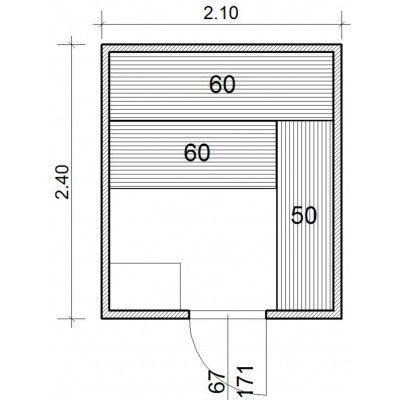 Afbeelding 43 van Azalp Massieve sauna Genio 210x240 cm, 45 mm