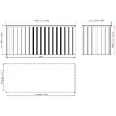 Afbeelding 4 van Duramax Box 170x70 cm, Antraciet