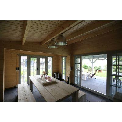 Bild 4 von Azalp Blockhaus Ben 650x650 cm, 45 mm