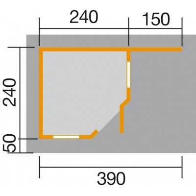 Afbeelding 2 van Weka Designhuis 213 A Gr.1, 396x238 cm grijs