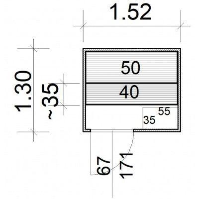 Afbeelding 5 van Azalp massieve sauna Rio Standaard 152x130 cm, 39 mm