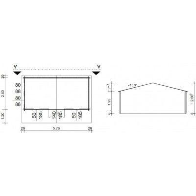 Bild 5 von Azalp Blockhäuser Stefan 596x300 cm, 45 mm