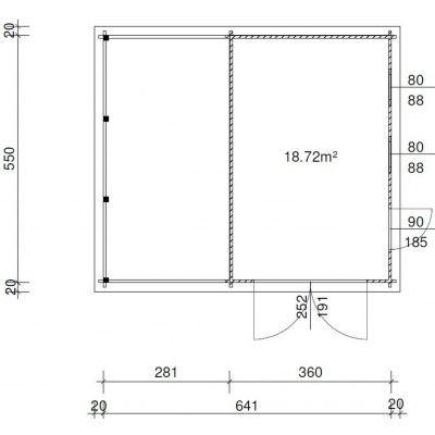 Afbeelding 2 van Azalp Garage Lagra 661x570 cm, 45 mm