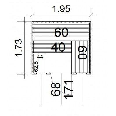 Afbeelding 3 van Azalp Massieve sauna Rio Optic 195x173 cm, 39 mm