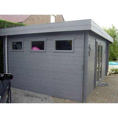Bild 28 von Azalp Blockhaus Sven 450x450 cm, 30 mm