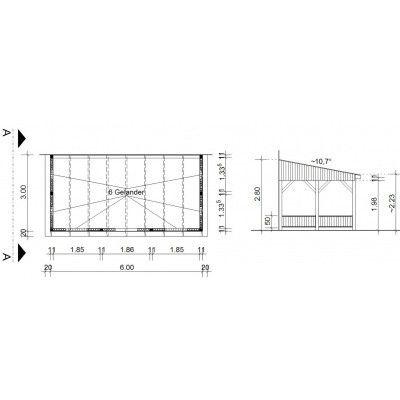 Afbeelding 34 van Azalp Houten veranda 600x300 cm