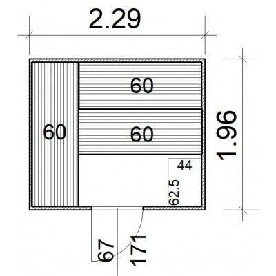 Afbeelding 5 van Azalp Massieve sauna Rio Standaard 229x196 cm, 39 mm
