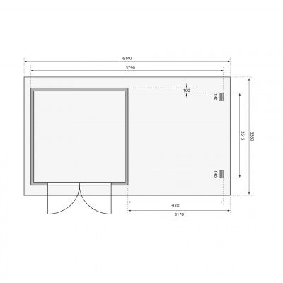 Afbeelding 2 van Woodfeeling Bastrup 5 met veranda 300 cm (73329)