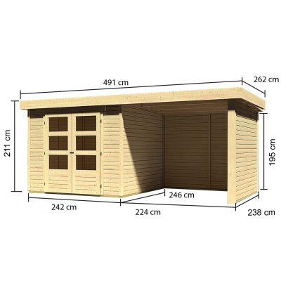 Afbeelding 3 van Woodfeeling Askola 3,5 met veranda (77719)