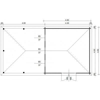 Bild 23 von Azalp Blockhaus Cas 840x450 cm, 45 mm