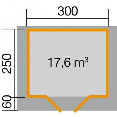 Bild 2 von Weka Gartenhaus Premium28 Gr. 3 mit Vordach