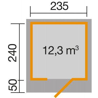 Afbeelding 3 van Weka Designhuis 172 Gr.1, 235x240 cm antraciet