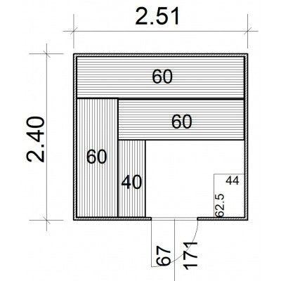 Afbeelding 5 van Azalp Massieve sauna Rio Standaard 251x240 cm, 39 mm