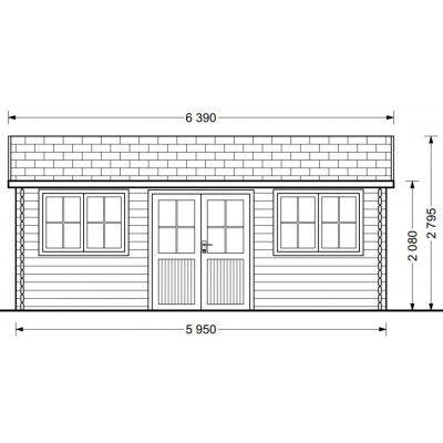 Bild 6 von Graed Oak Blockhaus 595x300 cm, 44 mm