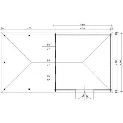Afbeelding 23 van Azalp Blokhut Cas 840x450 cm, 30 mm