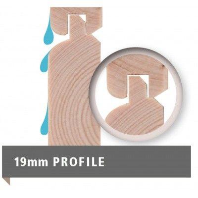 Afbeelding 9 van Woodfeeling Namen 3 met veranda 240 cm Terragrijs