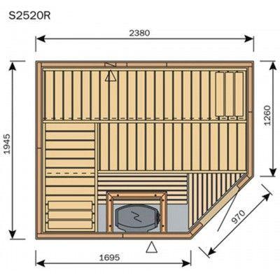 Afbeelding 8 van Harvia Sauna Variant Line S2520R