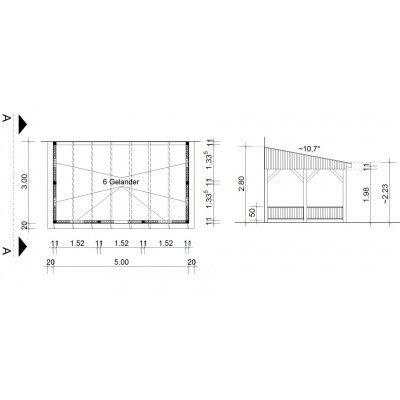 Bild 34 von Azalp Terrassenüberdachung Holz 500x300 cm