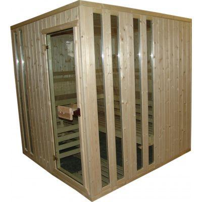 Afbeelding 4 van Azalp massieve sauna Alku 194x161 cm, 40 mm