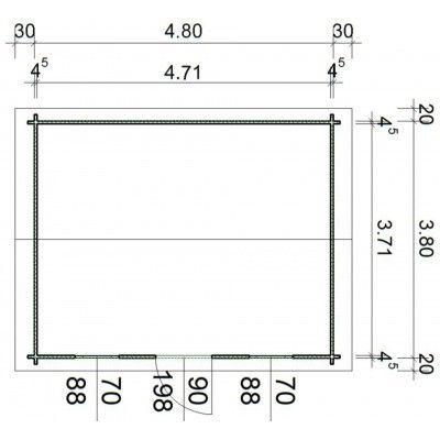 Bild 24 von Azalp Blockhaus Mona 500x400 cm, 45 mm
