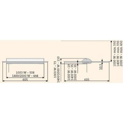 Afbeelding 2 van Solamagic Inbouwraam plafondmontage SIBF 1400-2000T
