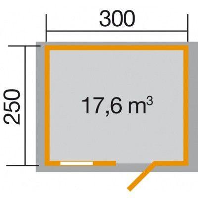 Afbeelding 2 van Weka Tuinhuis Premium28 FT Gr. 1 300cm