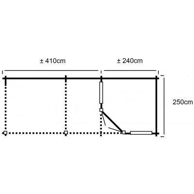 Bild 32 von Interflex 2556 Z, zijluifel 400 cm, Imprägniert