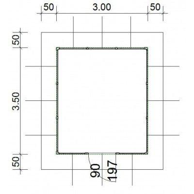 Afbeelding 4 van SmartShed Blokhut Amando 300x350 cm, 45 mm
