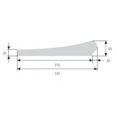 Afbeelding 6 van Trend Pool Boordstenen 800 x 400 cm wit (complete set rechthoek)