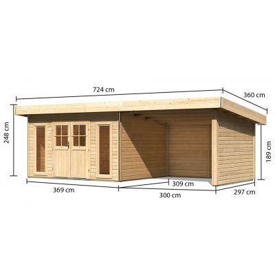 Afbeelding 2 van Woodfeeling Meulebeke 1 met veranda 300 cm
