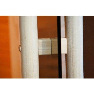 Afbeelding 7 van Ilogreen Saunadeur Exclusive (Elzen) 209x89 cm, blauwglas