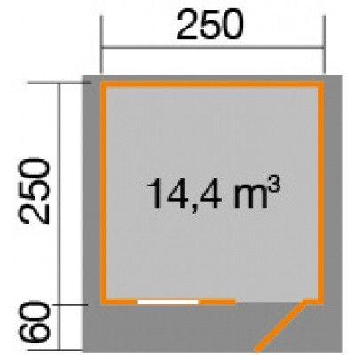 Afbeelding 2 van Weka Tuinhuis Premium28 FT Gr. 2 met Luifel 250cm