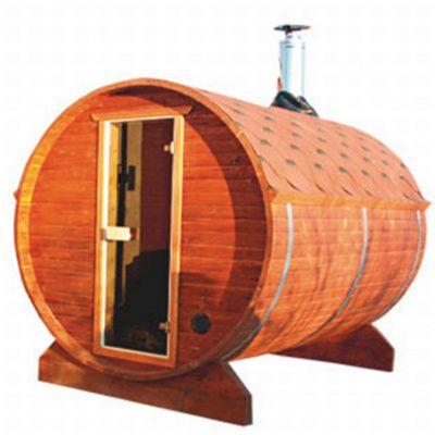 Afbeelding 11 van Azalp Buitensauna Barrel 205x175 cm in 45 mm
