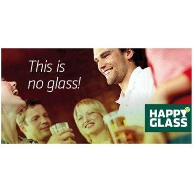 Afbeelding 2 van HappyGlass GG512 Beer Glass Ribbel 30 cl (set van 2)