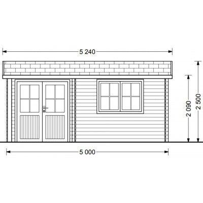 Bild 6 von Graed Oslo Blockhaus 500x400 cm, 44 mm
