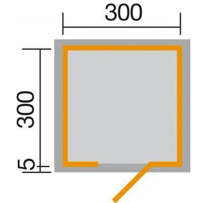 Afbeelding 2 van Weka Designhuis 413 Gr.2, 300x300 cm antraciet